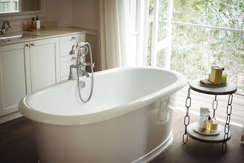 luxury standing bathtub remodel